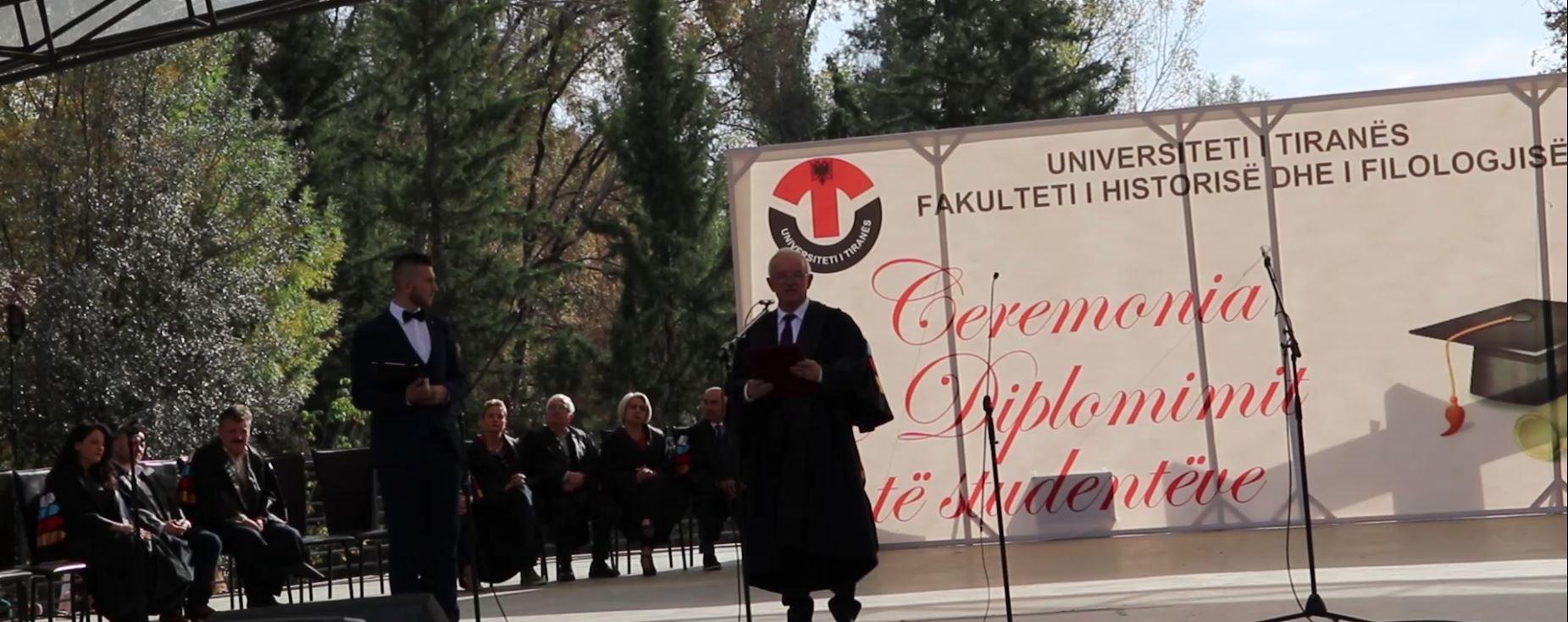 Përshëndetja  e Dekanit të FHF-së, Prof. dr. Sabri LAÇI  në Ceremoninë e Diplomimit të studentëve