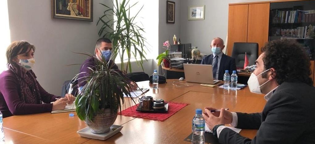 Dekan i FHF takim me përfaqësuesit e Institutit Demokratik Amerikan