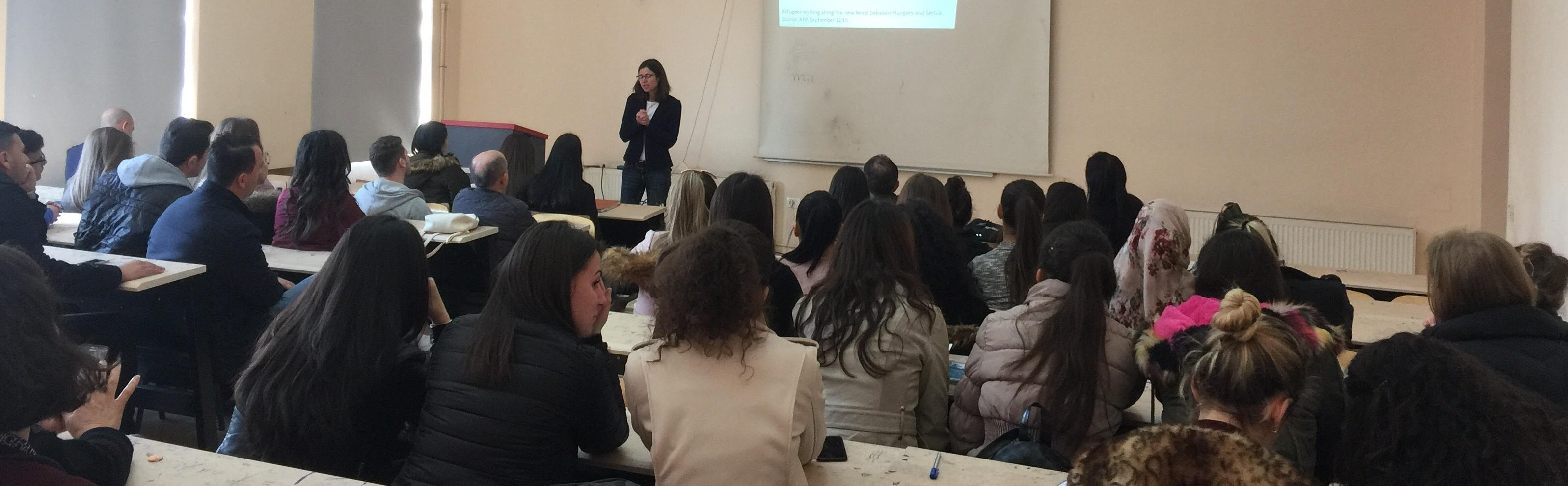 Leksione me studentët e Gjeografisë nga Prof.dr. Birgit Glorius